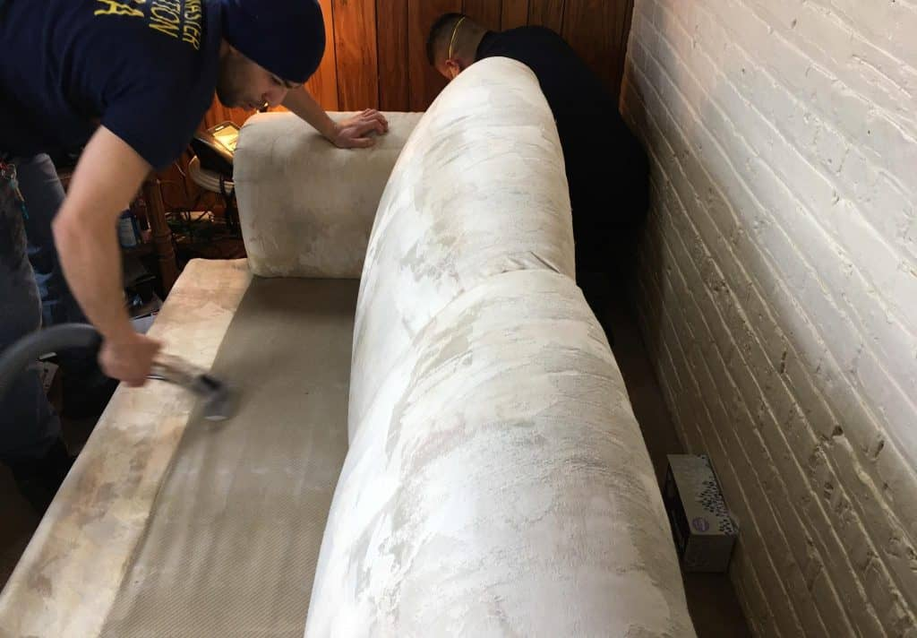 cleaning sofa in rental property chicago