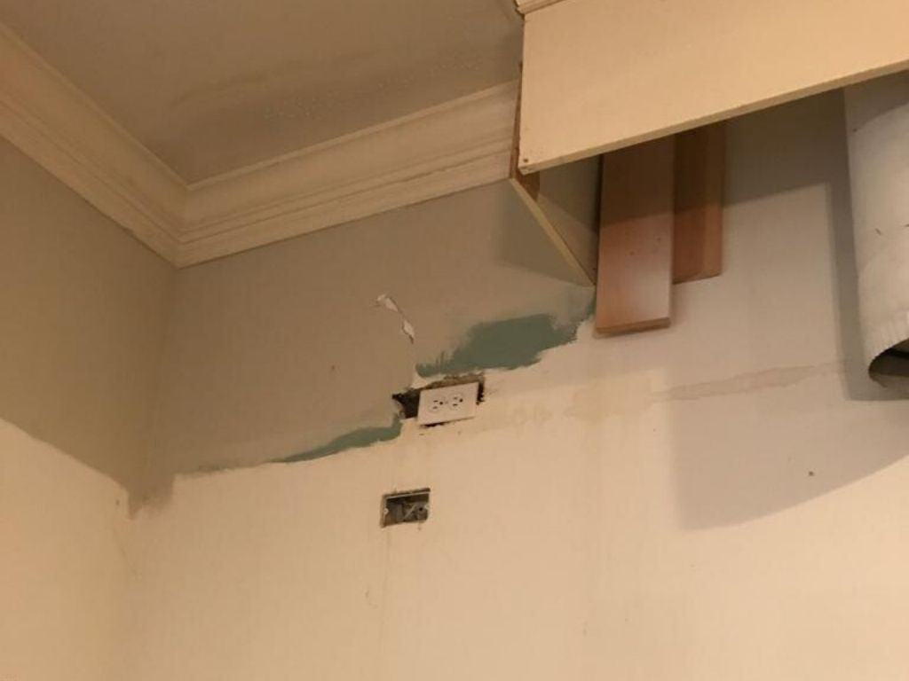 burst pipe in chicago ceiling home
