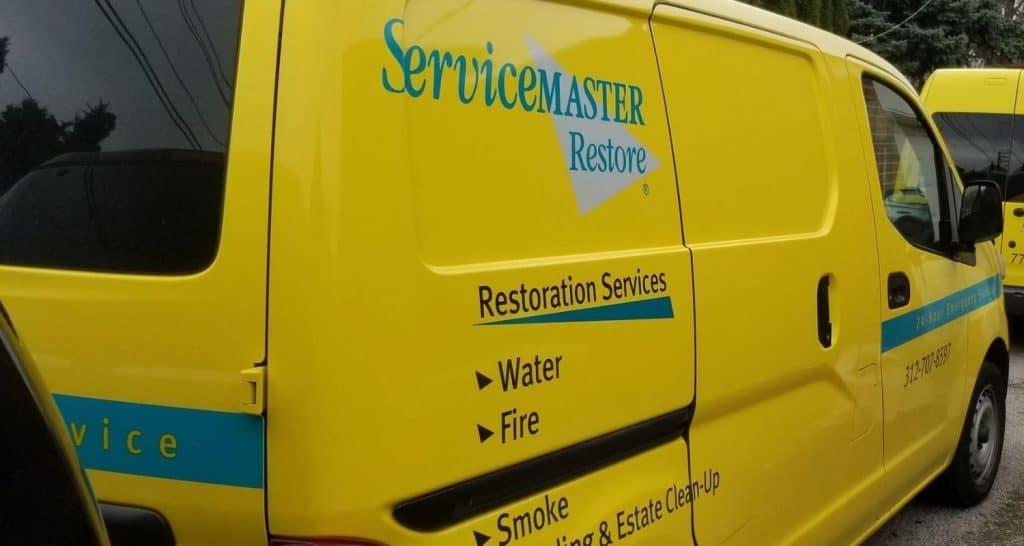 servicemaster fire damage van