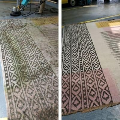 rug restoration chicago before after