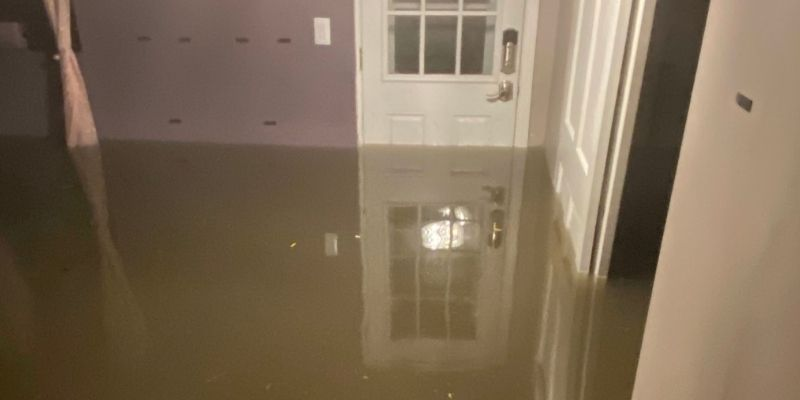 basement flooding in chicago home