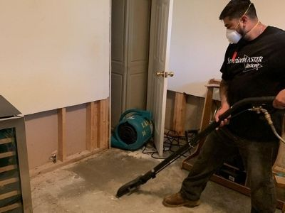 water pipe leak restoration