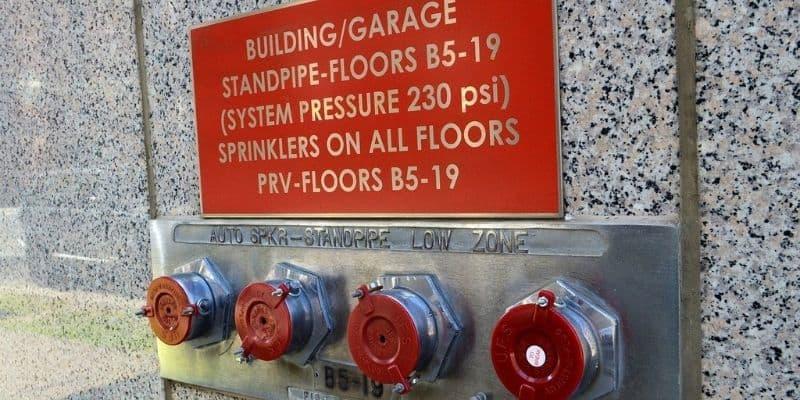 high rise building fire sprinkler in chicago